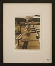 Sale 8754 - Lot 2037 - Lynn Pearce - Gladstone Park Bowling Club, 2007 41.5 x 34.5cm (frame size)