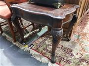 Sale 8826 - Lot 1036 - Pair of Carved Timber Occasional Table on Cabriole Legs
