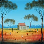 Sale 8947 - Lot 575 - Kym Hart (1965 - ) - Sunday School Playtime 31 x 31 cm (total: 31 x 31 x 4 cm)