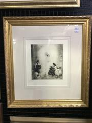 Sale 9024 - Lot 2018 - Norman Lindsay, Solei, facsimile etching, Odana ed.280, 56 x 52cm (frame)