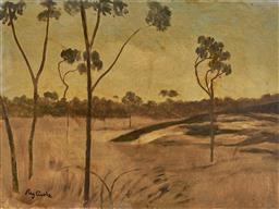 Sale 9081A - Lot 5017 - Ray Crooke (1925 - 2006) - Sunburnt Country 45 x 59cm (frame 62 x 77 x 3 cm)