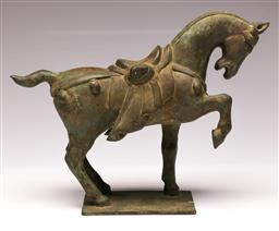 Sale 9107 - Lot 9 - A Bronze Tang Style Horse W:30cm