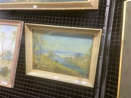 Sale 9111 - Lot 2021 - Theodore Grimanes Hawkesbury River gouache, frame: 33 x 43 cm, signed and titled  lower left