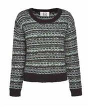 Sale 8493A - Lot 92 - A Gasparre cashmere blend textured black/pale aqua knit crew neck, size L