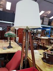 Sale 8601 - Lot 1131 - Large Tripod Base Standing Lamp