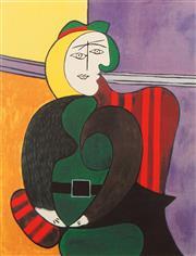 Sale 8658A - Lot 5086 - Pablo Picasso (1881 - 1973) - Woman with Flower 73.5 x 58cm