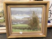Sale 8720 - Lot 2083 - Max Casey - Landscape oil on board, 24 x 29cm, signed lower left