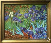 Sale 8816 - Lot 2051 - Artist Unknown - Garden Iris (After Van Gogh), acrylic on board, 62 x 72.5cm, unsigned