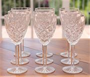 Sale 8908H - Lot 58 - Nine Waterford white wine glasses, Height 18cm