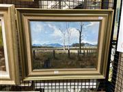 Sale 8906 - Lot 2031 - Glenn Dick - Pastoral Scene oil on canvas on board, 41 x 51cm (frame) signed