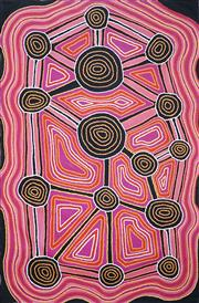 Sale 9047A - Lot 5015 - Pauline Sunfly (1957 - ) - Wilkinkarra, Lake McKay (Artists country) 2009 120 x 80 cm