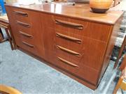 Sale 8984 - Lot 1075 - G-Plan Teak Eight Drawer Lowboy