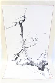 Sale 8997A - Lot 657 - A Chinese Scroll Featuring A Tree Together with Another