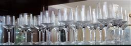 Sale 9155H - Lot 40 - A set of twelve Orrefors wine glasses. Height 17cm