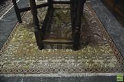 Sale 8359 - Lot 1052 - **RTV** Soumak Silk Carpet, the panelled field & border with bird motifs (146 x 110cm)