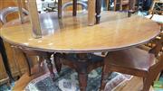 Sale 8375 - Lot 1067 - Unusual Mahogany Circular Breakfast Table, with turned quadraform pedestal base