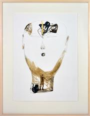 Sale 8374 - Lot 526 - Dadang Christanto (1957 - ) - Head with Gold C, 2005 76 x 57cm