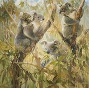 Sale 8538 - Lot 579 - Peter Abraham (1926 - 2010) - Koalas 89 x 89cm