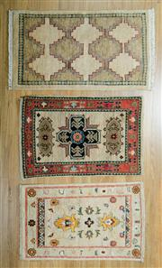 Sale 8643C - Lot 73 - 3 x Afghan Chobi Mats 60cm x 90cm