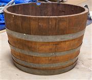 Sale 8677A - Lot 96 - A Coopers half wine barrel
