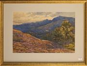 Sale 8734A - Lot 30 - Arthur Heeley - Mountainside Village, 1910 33.5 x 50cm (frame size: 55 x 70cm)