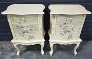 Sale 8979 - Lot 1027 - Pair of French Style Bedsides (H:70 W:47 D:35cm)
