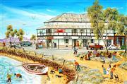 Sale 9038 - Lot 515 - Vic Collins - Old Pubs of South Australia, Port August West 39 x 59.5 cm (frame: 45.5 x 66 x 3 cm)
