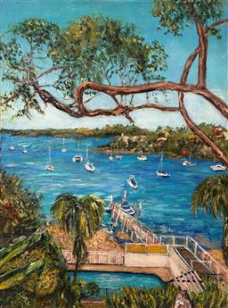 Sale 9099A - Lot 5010 - Stanley Perl (1942 - ) - Harbour View 45.5 x 61 cm