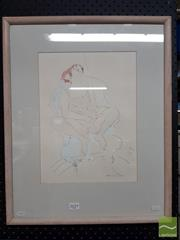 Sale 8474 - Lot 2029 - Maureen Lee (XX - XXI) - Seated Nude 35 x 26cm