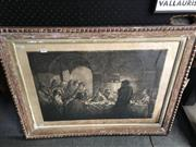 Sale 8674 - Lot 2050 - Carlos Oswald - The Last Supper etching, 62 x 82 (frame) signed lower right