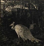 Sale 8696A - Lot 5044 - Lionel Lindsay (1874 - 1961) - Autumn 15.5 x 14.5cm