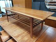 Sale 8822 - Lot 1108A - Vintage Parker Coffee table with Tiered Shelf