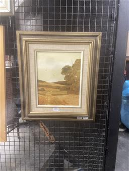 Sale 9111 - Lot 2016 - Michael Taylor A Queensland Property oil on board, frame: 41 x 36 cm, signed lower right