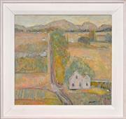 Sale 8316 - Lot 502 - John Harold Dent (1951 - ) - Country Road 50 x 53cm