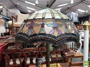 Sale 8469 - Lot 1070 - Leadlight Standard Lamp