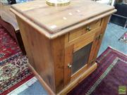 Sale 8469 - Lot 1045 - Pine Timber Cabinet with Single Drawer & Door