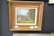 Sale 8506 - Lot 2025 - E. M. L Dehle - Cottage - Blue Mountains 14 x 12cm