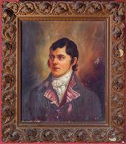 Sale 8625A - Lot 5 - A Beatson, C19th School - Portrait of a Young Dandy 59 x 49cm