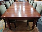 Sale 8740 - Lot 1035 - Large Timber Extension Dining Table -