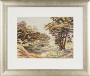 Sale 8771 - Lot 2091 - D M OGrady - River Scene, 1930 26 x 35cm (frame size: 47 x 55cm)
