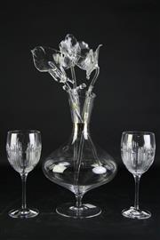Sale 8877 - Lot 17 - A Waterford Crystal Elegance Platinum Footed Carafe (H33cm) together Other Waterford Crystal Wares Incl. Dungarv Goblets and Crystal...