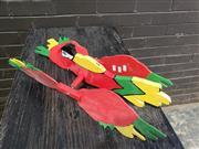 Sale 8962 - Lot 1003 - Painted Timber Parrot Weathervane (L:56cm)