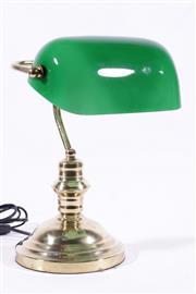 Sale 9010D - Lot 790 - Brass Banker Lamp (h:33cm)