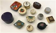 Sale 8436A - Lot 52 - A group of thirteen assorted pill boxes including Mexican, Chinese and Aboriginal.