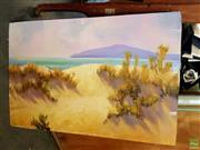 Sale 8650 - Lot 2079 - Marcia Rea - Sand Dunes oil on board (unframed), 51 x 76cm, signed lower left