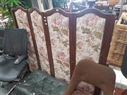 Sale 8676 - Lot 1122 - Oak Framed Four Panel Dressing Screen