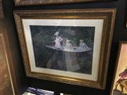 Sale 8702 - Lot 2067 - Claude Monet Decorative Print, 81 x 96cm
