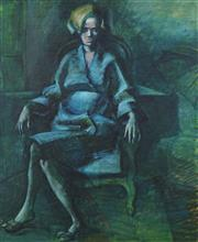 Sale 8755 - Lot 509 - Tony Irving (1939 - ) - Seated Woman 58 x 48cm