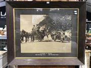Sale 8809 - Lot 1079 - Framed Photo of an 1825 and 1925 Coach