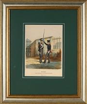 Sale 8888 - Lot 2059 - German School (C19th) - Saschen Altenburg Infanterie 31 x 22cm